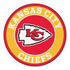 "... Kansas City Chiefs Logo Roundel Mat – 27"" Round Area Rug"